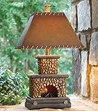 BLACK FOREST DECOR Stone Fireplace Lamp