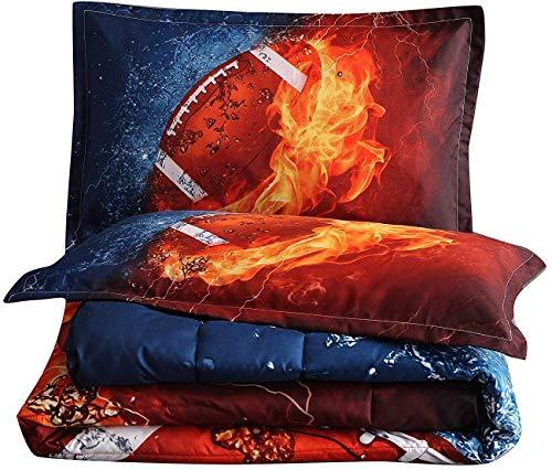 En-man Home Holawakaka Rugby Comforter Set Boys Teens Sports Fans Quilt Dorm Bedding Sets Full Size(rugby1)