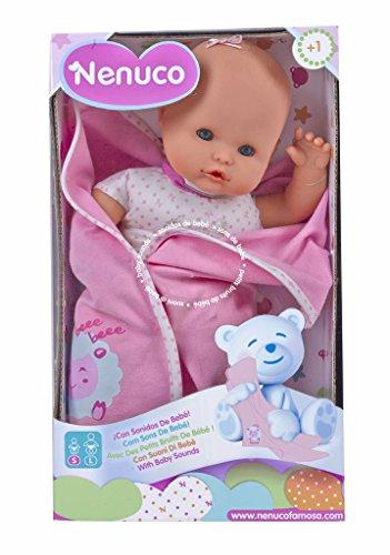 Nenuco Recién nacido - Poupée avec des petits bruits de bebé (Famosa 700012123) - Modèle de poupée assortie