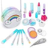 Aupmeka Maquillaje Niñas Set Maletin Juguete Niña Juguetes para Chicas Regalo de Princesa para Niñas en Fiesta,Cumpleaños,Navidad