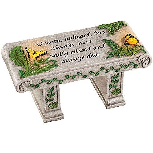 Solar Powered LED Outdoor Garden Memorial Bench with Heartwarming...