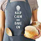 Saukore Funny Baking Aprons for Women Men Adjustable Kitchen Cooking Aprons with 2 Pockets Cute Birthday Christmas Apron Gifts for Bakers Mom Wife Husband Girlfriend Grandma