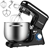 HOWORK Stand Mixer, 8.45 QT Bowl 660W Food Mixer, Multi Functional Kitchen Electric Mixer With Dough Hook, Whisk, Beater (8.45 QT, Black)