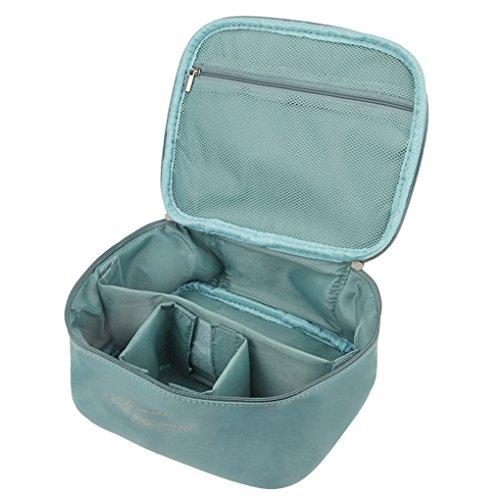 FakeFace Große Kapazität Kulturbeutel Toiletbag Kosmetiktäschchen Schminktasche mit Raumteiler Kulturtaschen Multifunktion Beutel Reisetasche für Herren Damen,Blau