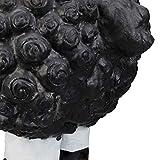 Relaxdays Gartenfigur Schaf, Tierfigur, frostsicher, wetterfest, handbemalte Gartendeko, innen & außen, Keramik, schwarz - 7