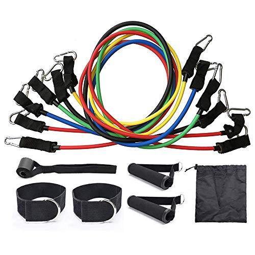 12pcs 200lbs Bandas de resistencia, conjunto de tubos de ejercicios, con anclaje de...