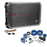 Rockville RXA-F1 1600 Watt Peak/400w CEA RMS 4 Channel Car Amplifier+Amp Kit