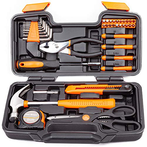 CARTMAN Orange 39-Piece Tool Set - General Household Hand Tool...