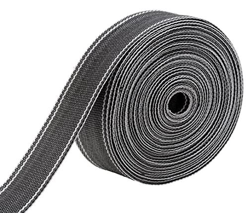 IPEA Cinghia Rigida Multiuso in Nylon 15 Metri Corda per Tappezzeria Mobili Traslochi Poltrone Divani Utilizzi Diversi e Fai da Te Colore Grigio 50 mm