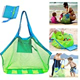 SupMLC Mesh Beach Bag Extra Large Beach Bags and Totes Tote Backpack Toys Towels Sand Away for Holding Beach Toys Children' Toys Market Grocery Picnic Tote