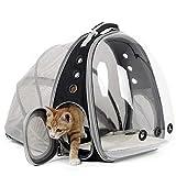 Ampliable portador del gato Mochila, Cápsula espacial transparente burbuja portador del animal doméstico para el pequeño perro, mascotas yendo de excursión la Mochila