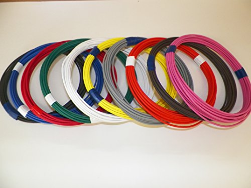 Automotive Copper Wire, TXL, 20 GA, AWG, GAUGE Truck, Motorcycle, RV, General Purpose. Order by 3pm EST Shipped Same Day (10 Colors 25' Each)