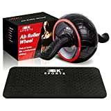 Ab Roller Wheel for Abs Workout with Knee Pad – Ab Wheel Abdominal Exercise Equipment - Perfect Fitness Ab Roller Home Gym for Men and Women - Train at Home Like a Professional Athlete!