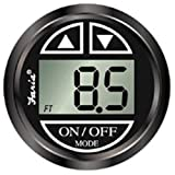 Faria 13751 Chesapeake Black Depth Sounder with In-Hull Transducer (Renewed)