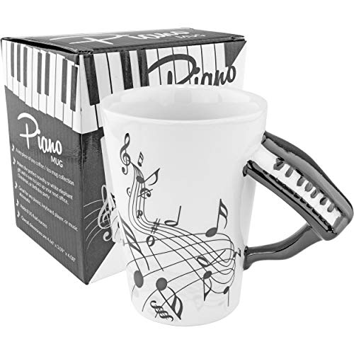 Fairly Odd Novelties Black & White Piano Coffee Musician...