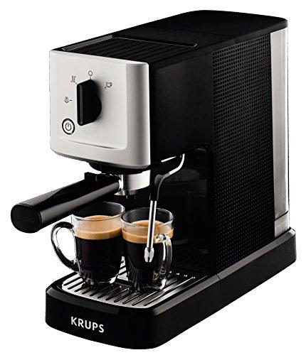 Krups XP3440 XP344010 Espresso-Automat, Edelstahl, 1.1 liters, schwarz/silber