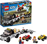 LEGO City Great Vehicles - Todoterreno del equipo de carreras, divertido set de construcción con dos quads y una camioneta con remolque (60148)