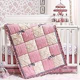 The Peanutshell Bella Crib Bedding Set for Baby Girls   3 Piece Nursery Set   Crib Quilt, Fitted Crib Sheet, Dust Ruffle