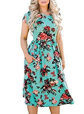 S=US 0-2 ,M=US 4-6, L=US 8-10 ,XL=US 12-14, XXL=US 16; Stretch-enhanced fabric lends all-day comfort. This breezy dress features an eye-catching floral print and handy pockets on either hip. Wash Instruction: Machine wash,recommend with a laundry bag...