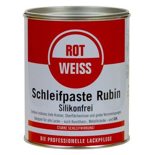 Rotweiss 1 Stück Schleifpaste Rubin 750ml Schleif Auto Politur Lack polieren KFZ