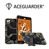 ACEGUARDER New iPad Mini 5 Case 2019, iPad Mini 4 Kids Case Soft Silicone Shockproof Durable with Adjustable Kickstand Protection Cover (Camo)