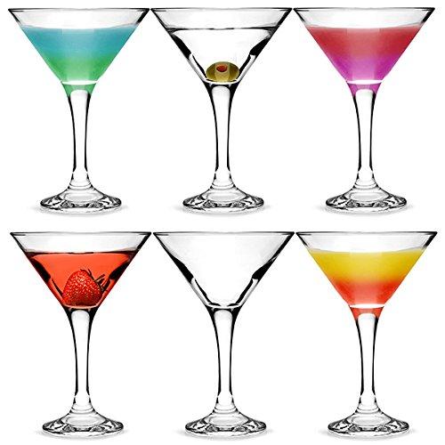 bar@drinkstuff Set da 6,City Bicchieri da Martini e Cocktail in Confezione Regalo, con Forma a V per servire Bicchieri da Martini Cocktail