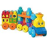 Mega Bloks ABC Musical Train Building Set, 50 pieces