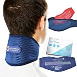 Sports Laboratory Neck Support Brace PRO+ for Neck Pain with Integrated Hot & Cold Therapy Pack | Adjustable...