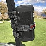 The Original Bushwhacker Portable Speaker Mount for Golf Cart Railing...