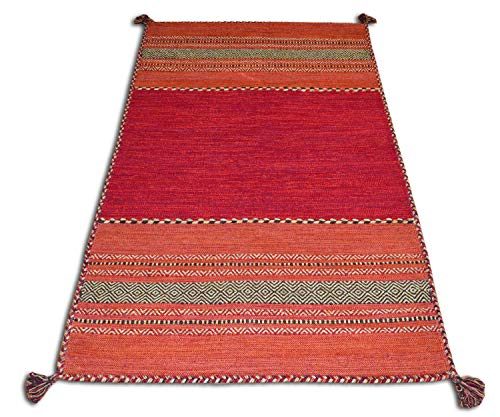 Centesimo Web Shop Tappeto, Cotone, Rosso, 60 x 200 cm