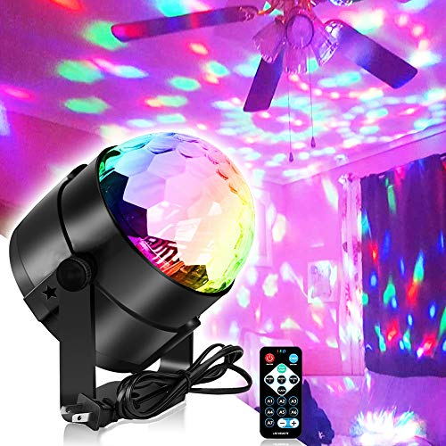 Party Lights Disco Light, Spriak Sound Activated Dj Stage Strobe Light, 7 Colors with Remote Control Disco Ball Lamps for Birthday Dance Home KTV Christmas Halloween Parties (Latest 2020 New)