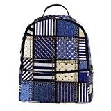 KAMEARI Mochila para la escuela coser y reparar pantalones vaqueros casual mochila de viaje con bolsillos laterales para botella