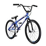 Mongoose Title Junior BMX Race Bike for Beginner Riders, Featuring Lightweight Tectonic T1 Aluminum Frame and Internal Cable Routing with 20-Inch Wheels, Silver