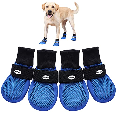 Hipaw Summer Breathable Dog Boots Nonslip Sole Paw...