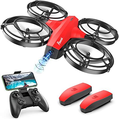 Potensic Mini Drone per Bambini P7 con Fotocamera 720P con 20 Minuti di Volo modalit Combattimento, 2 Batterie, Rosso