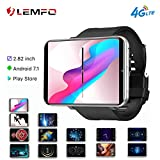 Mstrrouning 4G LTE Smart Watch Phone, Android 7.1 OS 2.86' Touch Screen MTK6739 3+32GB HD 5MP GPS WiFi Heart Rate Monitor Smartwatch Android iOS for Men Women (Silver Grey)