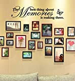 Hot Sale!!! Wall Mural,Jushye New Removable Art Vinyl Wall Sticker Decals For Living Room Bedroom TV Background 'The Best Thing About Memories is Making Them' (A)