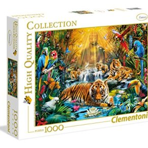 Clementoni - Puzzle 1000 Piezas Mystic Tigers (39380)