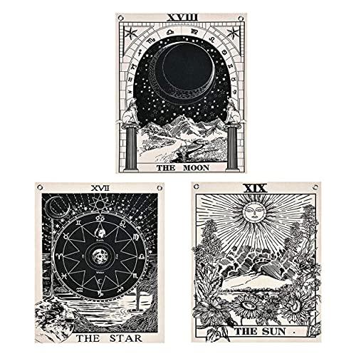 Tarot Card Tapestry Bedroom Aesthetic Sun Moon Tapestry...