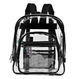 Commercial Grade Large Clear Backpack Black Freeze Proof Heavy Duty