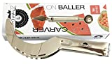 Stainless Steel Watermelon Slicer Cutter Corer and Server - Melon Baller and fruit carving tool chisel by CuisinePerfect