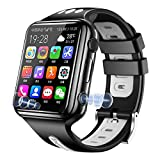 4G Network SIM Card Smart Watch for Children Kids Students Waterproof Video Call Smartwatch Phone with Dual Cameras 2M HD Pixels GPS Positioning Step Motion Meter 1080mAh Battery (Black)
