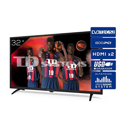 TD Systems K32DLK12H - Televisores 32 Pulgadas HD 3X HDMI, USB,...