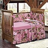 HiEnd Accents Baby Pink Camo 4-PC Crib Bedding Set