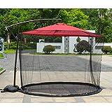 SKYLLPATION Outdoor Moustiquaire de Parasol de Jardin, Cantilever Mosquito Net avec Conduite d'eau (300x230cm)