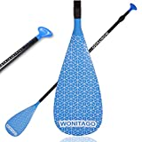 wonitago SUP Paddle - Adjustable 3-Piece Stand Up Paddle Board Paddle, Fiberglass Shaft and Nylon Blade (40cm Adjustable)