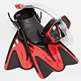 National Geographic Snorkeler NAT Geo Fit Traveler2 Combo Red Blk ML/XL