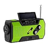 Radio d'urgence, ABEDOE NOAA Radio Météo Puissance Solaire Manivelle USB...
