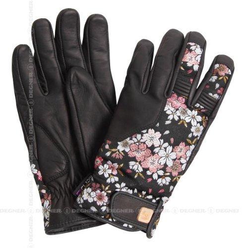 デグナー 花山 ツーリンググローブ TG-25K 京桜 カラー:ブラック サイズ:XL(4524486053139)