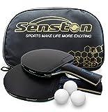 Senston Raquette ping Pong Professionnel, balles de ping-Pong, 2 Raquettes...
